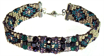 Bracelet made by Fran Marsh on The Ricks Beading Loom