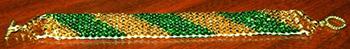 Firsh bracelet made by Helen on The Ricks Beading Loom